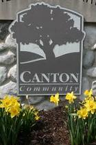 Canton MI sign on wall